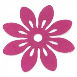Pink filt bordskåner. 6 stk.