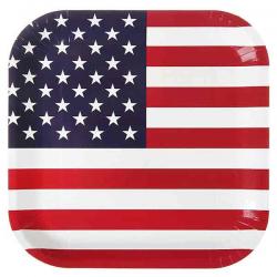 USA Paptallerken. 10 Stk.