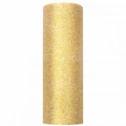 Guld Glimmer tyl. 9 Meter