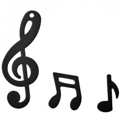 Sort konfetti musik & noder