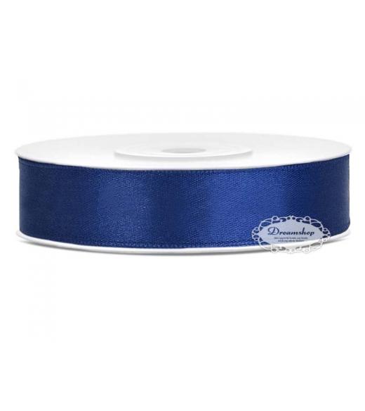 Marineblå Satinbånd 12 mm. x 25 m