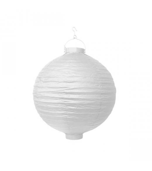 Hvid LED lanterne 20 cm