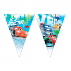 Disney Cars ice racer flagbanner. 1 stk