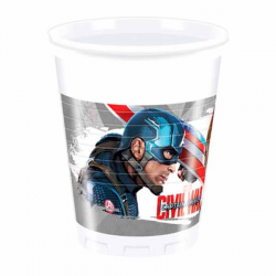 8 Stk Captain America Civil War. plastikkrus