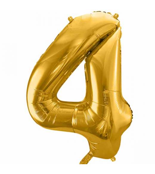 Guld folie ballon 4 tal. 85 cm
