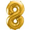 Guld folie ballon 8 tal. 85 cm