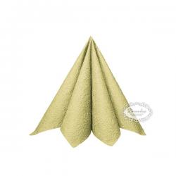 Lys grøn kaffeserviet Elegance. 25 x 25 cm. 15 stk