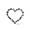 Lyssmykke rhinsten hjerte 3 cm