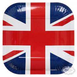 Paptallerkner engelsk flag. 10 stk