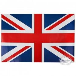 Dækkeservietter med engelsk flag. 6 stk