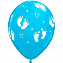 Turkisblå Ballon Baby Steps 6 stk