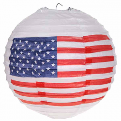 2 Lanterner USA flag 20 cm