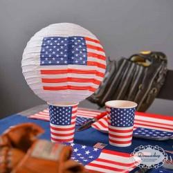 Lanterner USA flag 20 cm