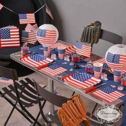 USA flag lanterner 20 cm