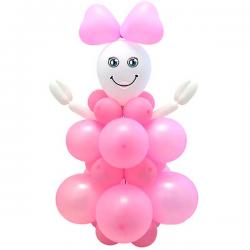 Ballon sæt Baby girl lyserød 95 cm