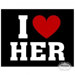 Sko sticker I LOVE HER