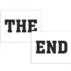 Sko sticker THE END