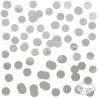 Store runde sølv konfetti 15 g