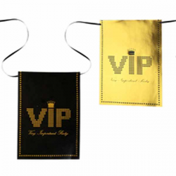 Sort guld flagbanner VIP party 6 m