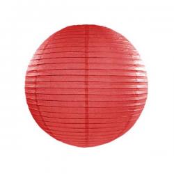 Rød lanterne 25 cm