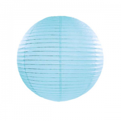 Lyseblå lanterne 25 cm