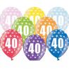 6 stk balloner 40 års fødselsdag