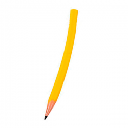 Gul gummi blyant
