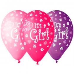 Mix pige balloner Baby shower 5 stk