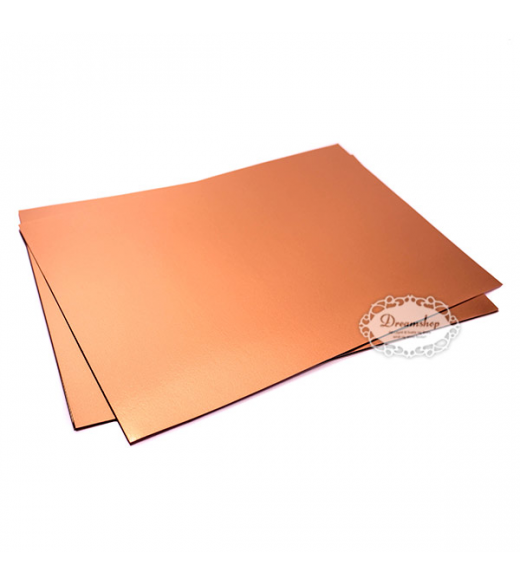 Kobber A4 metalkarton 280 g 5 stk