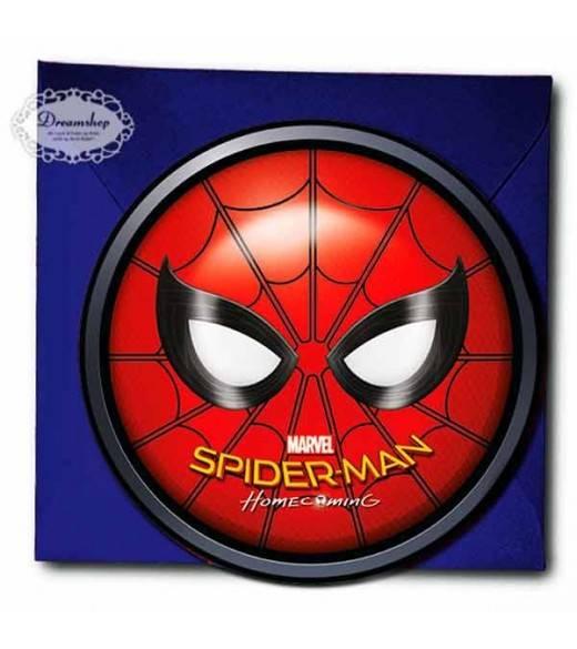 6 stk invationer Spiderman Homecoming