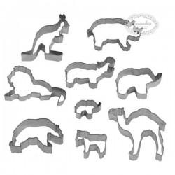9 stk kageudstikkere vilde dyr