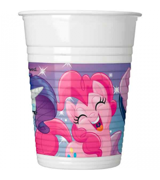 8 Stk Plastikkrus My little pony & friends