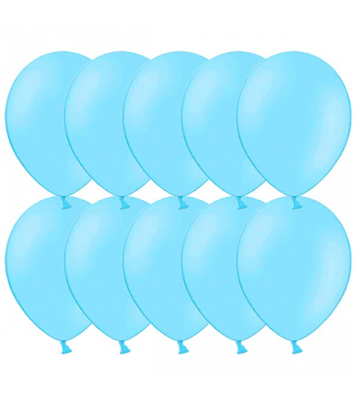 """Lyseblå balloner 12"""" - 100 Stk"""