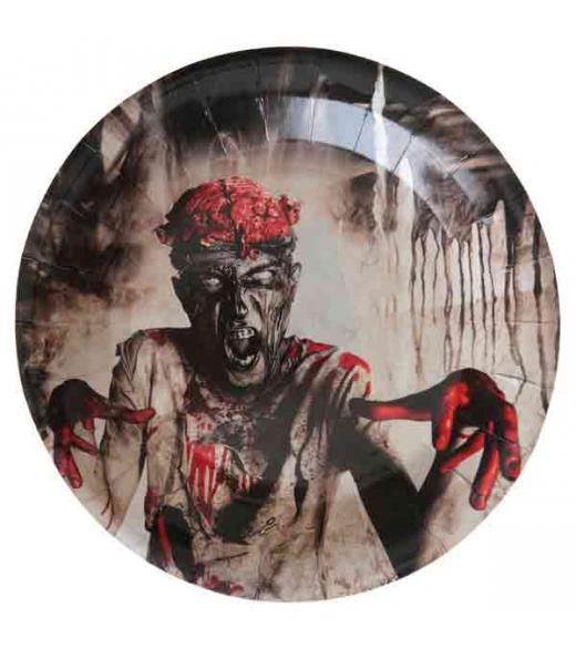 10 Stk Zombie tallerkener 22 cm