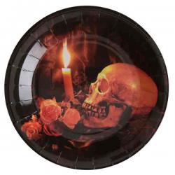 Dødningehoved Halloween tallerkner 22 cm