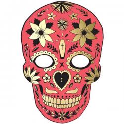 Rød dekorationsmaske De Dødes Dag