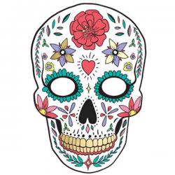 Hvid dekorationsmaske De Dødes Dag