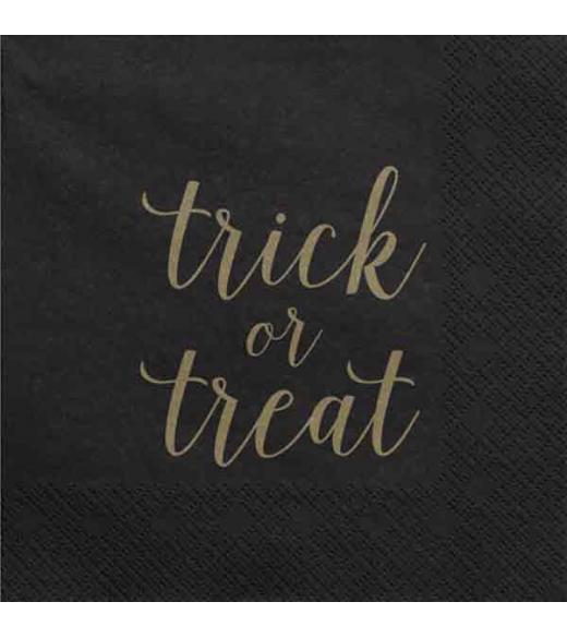 Sorte servietter Trick or treat