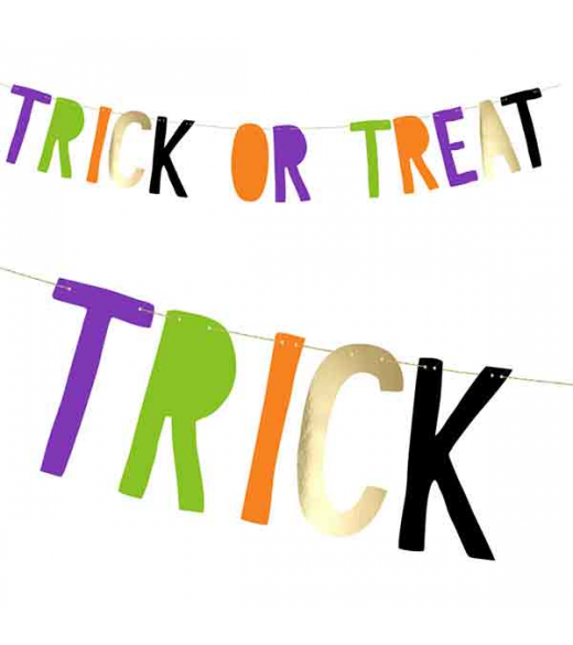 Bogstav banner Trick or Treat