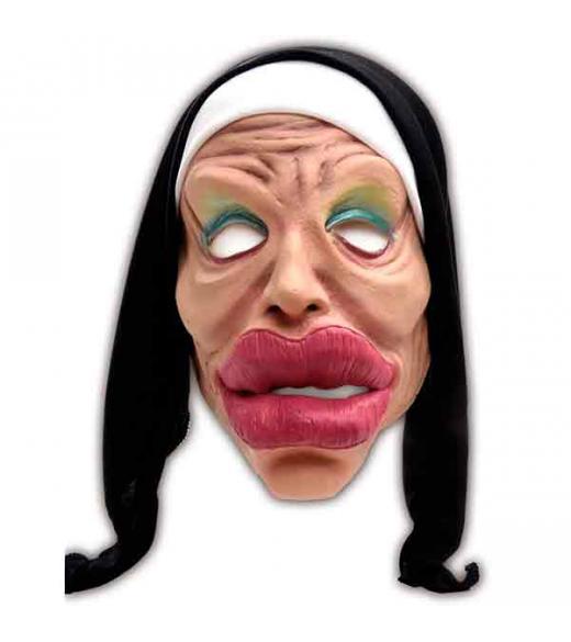 Nonne Maske crazy lips