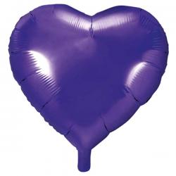 Lilla folieballon hjerte 45 cm