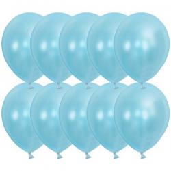 Ballon metallic lyseblå. 100. Stk