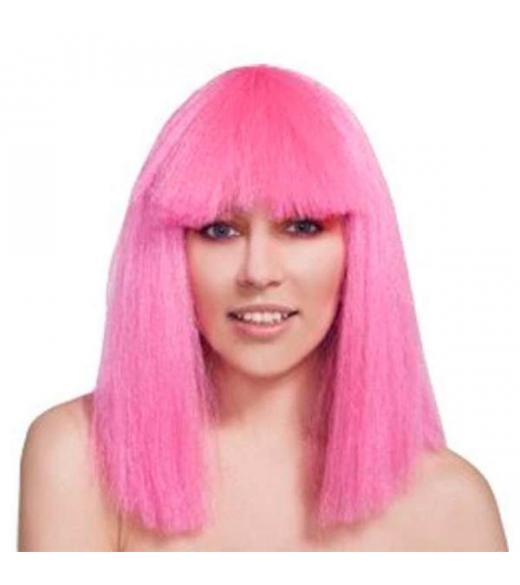 Skulder lang Lys Pink Paryk