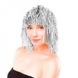Sølv Glitter Paryk