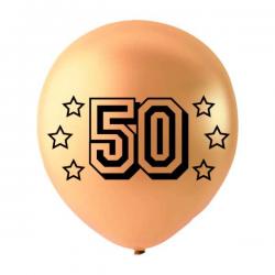 6 Stk Balloner Guld 50
