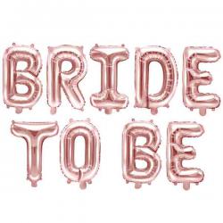 Bride to be Folieballon Rose Gold 1 sæt