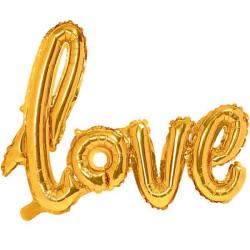 Love Folieballon Guld