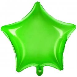 Grøn folieballon stjerne 45 cm