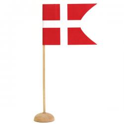 Bordflag På Træ Fod Uden Hul i Fod. 6 stk