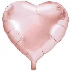 Rose Gold Hjerte Folieballon 61 cm